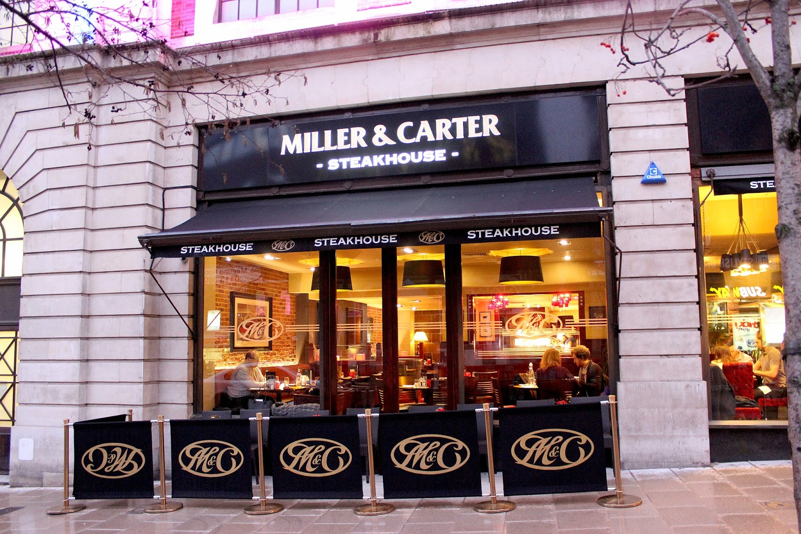Miller and carter leeds restaurant